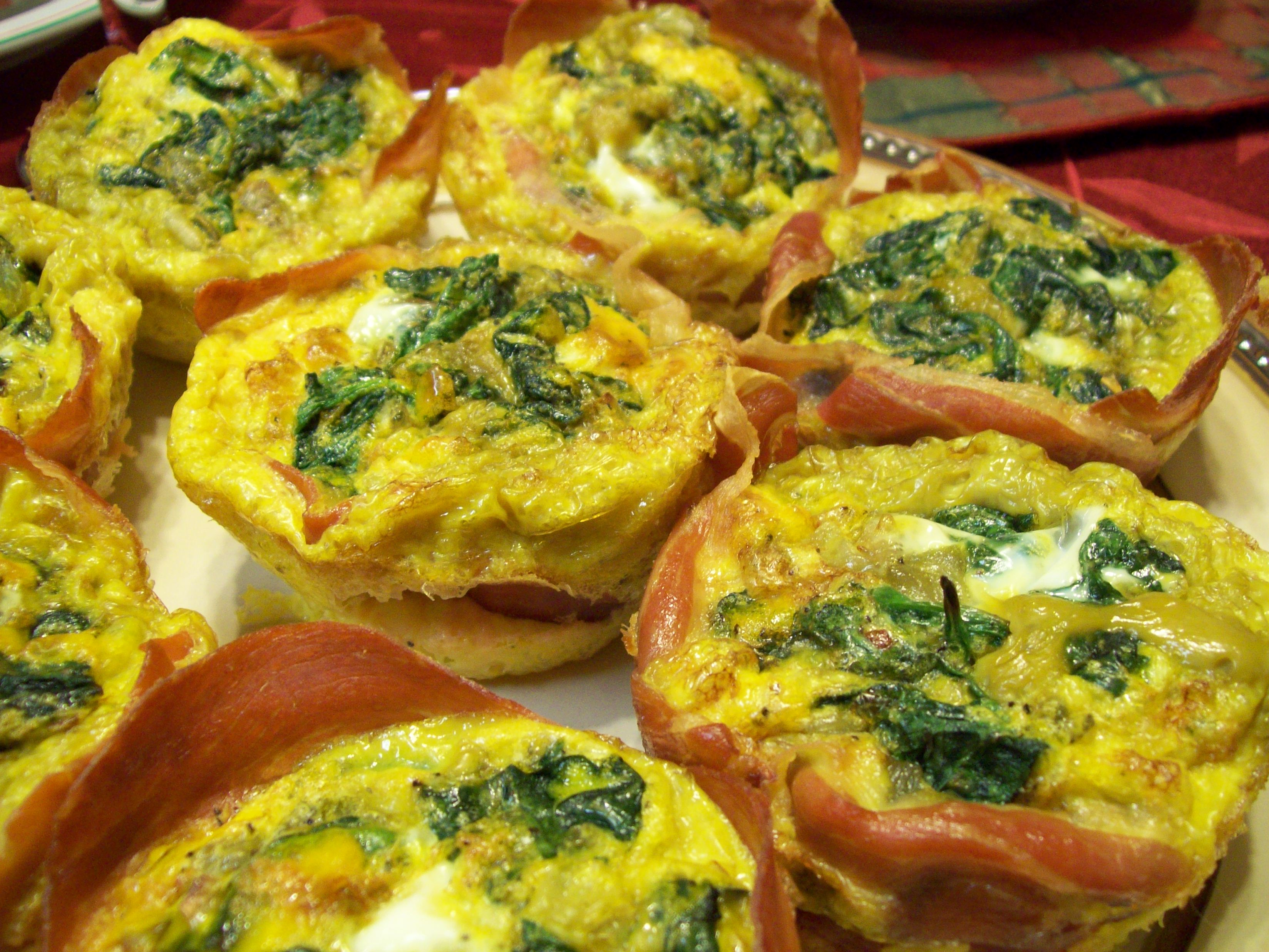 Prosciutto and Spinach Egg Cups