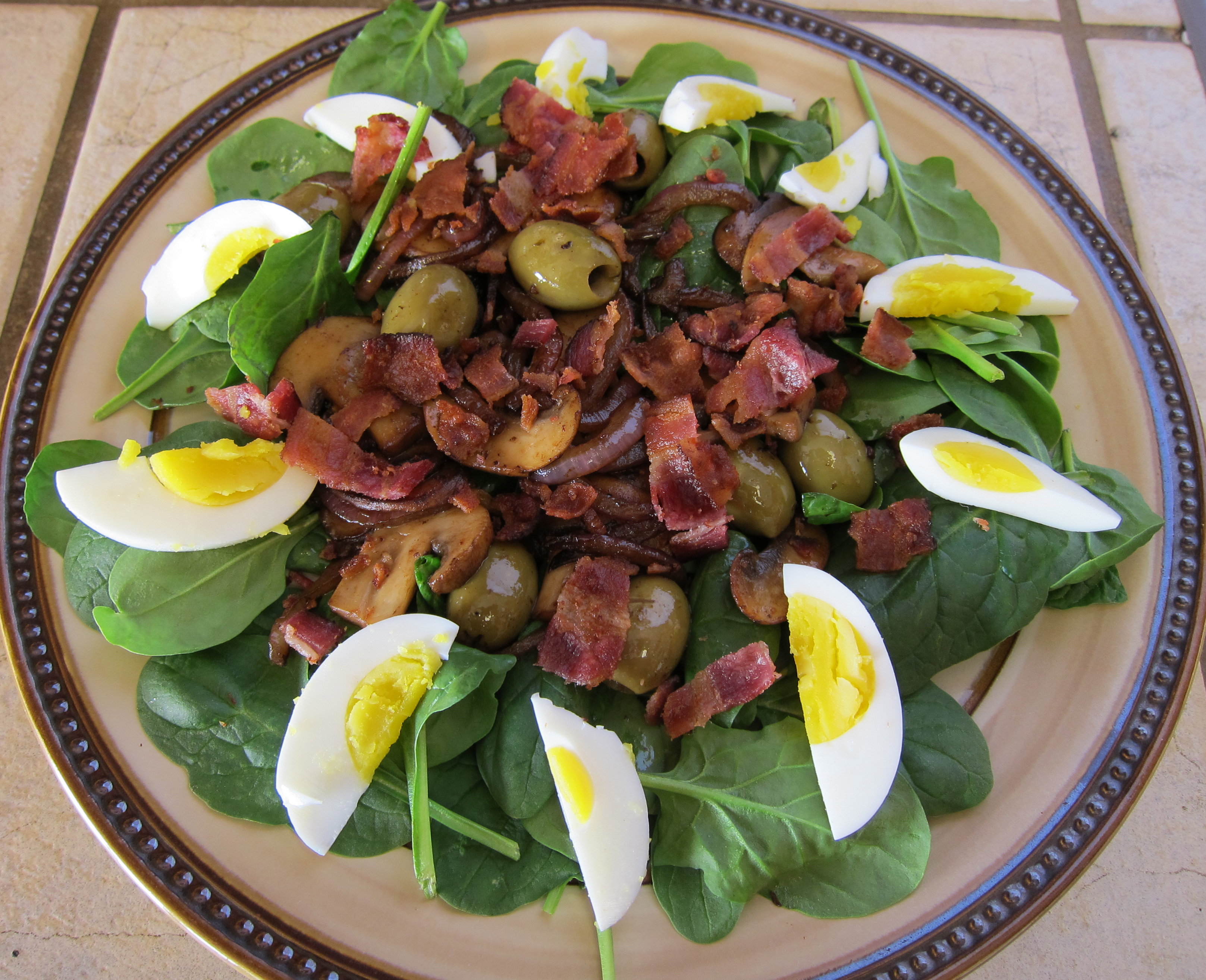 Easy Summer Salads Series…Spinach Salad with Warm Bacon Dressing ...