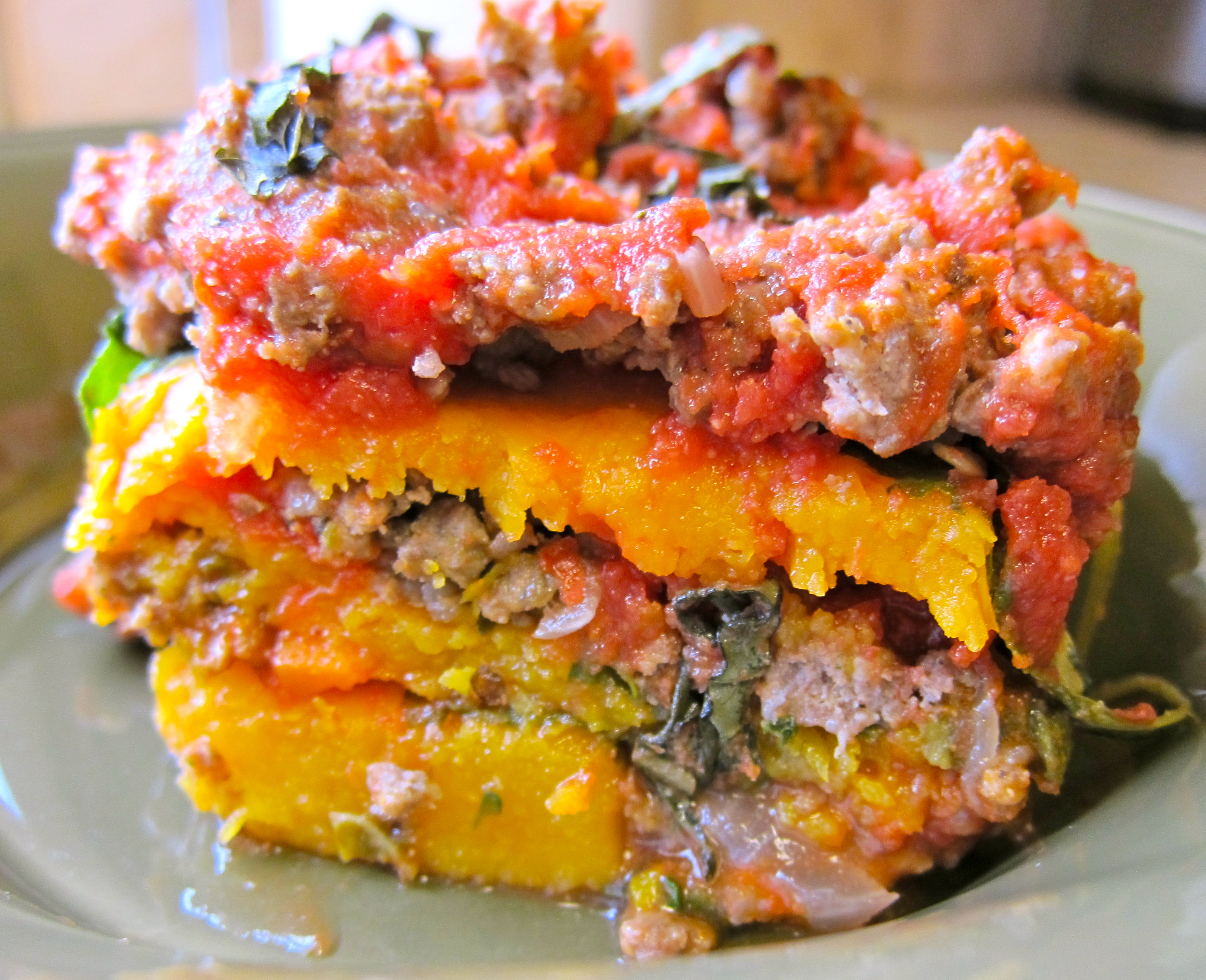 Roasted Butternut Squash and Spinach Lasagna