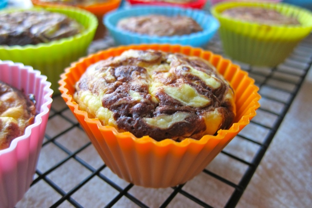 Orange Cheesecake Brownie Cupcakes