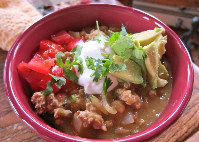 Loaded White Chicken Chili