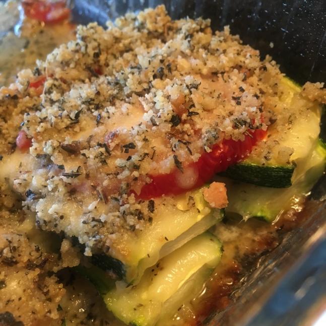 Zucchini, Tomato and Mozzarella Casserole